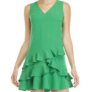 Eliza J Green Ruffle Mini Dress